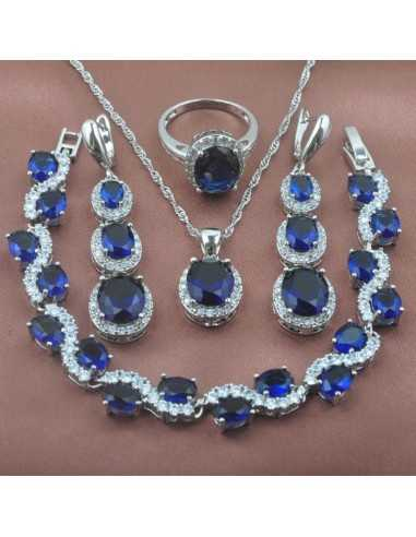 Set Bijuterii argintat Piton Albastru Set Bijuterii 190,40lei