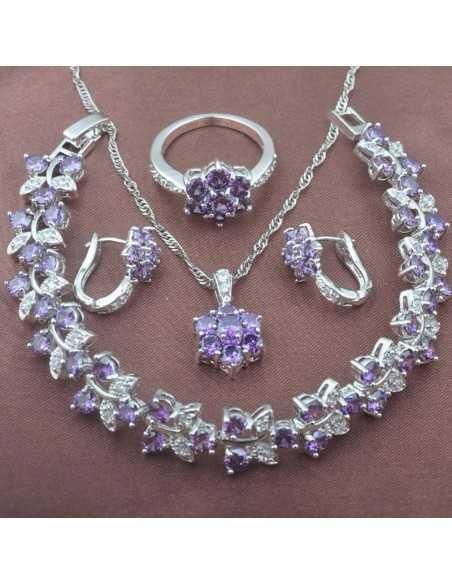 Set Bijuterii argintat Cleopatra Violet Set Bijuterii 190,40lei