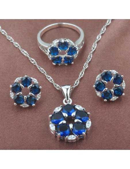 Set Bijuterii argintat Marte Albastru Set Bijuterii 190,40lei