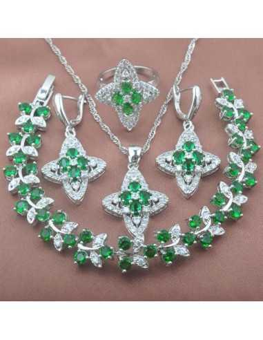 Set Bijuterii argintat Star Verde Set Bijuterii 190,40lei