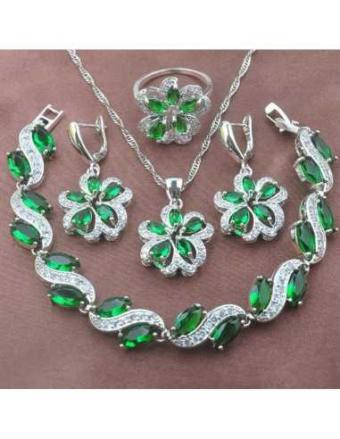 Set Bijuterii argintat Vortex Verde Set Bijuterii 190,40lei