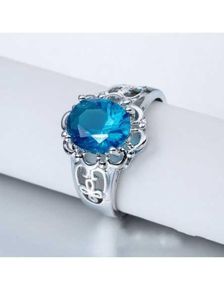Inel Argintat Brazin Bleu Topaz Inele 66,64lei
