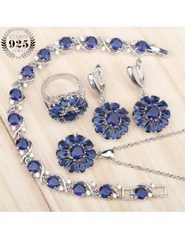 Set Bijuterii argintat Amazon Albastru Set Bijuterii 190,40lei