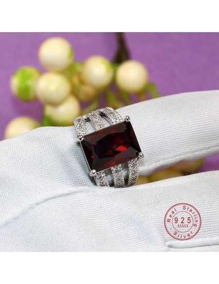 Inel Argintat Lady Rosu Inele 66,64lei