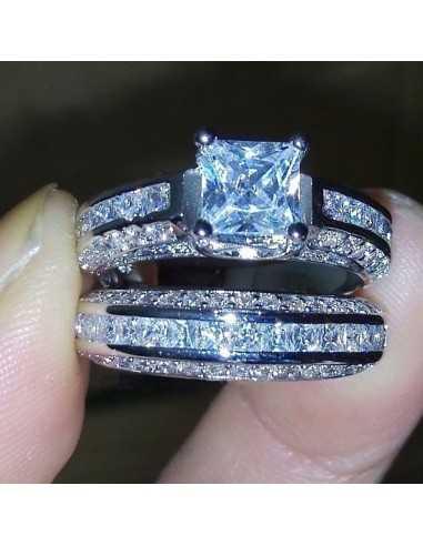 Set inele argintate Dual Bleu Inele 65,45lei