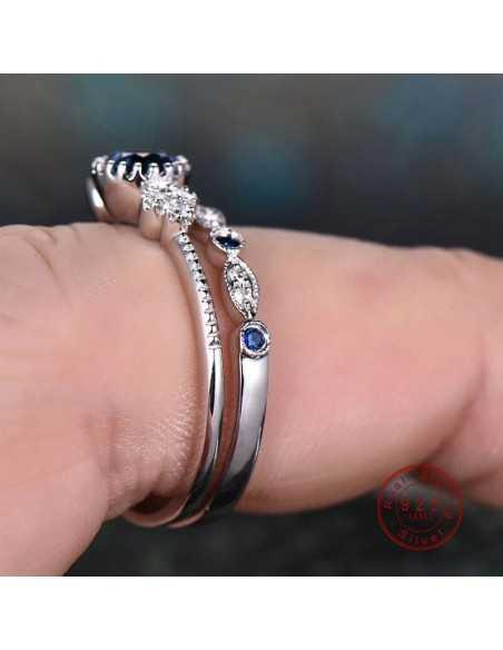 Set inele argintate Druidic Albastru Inele 65,45lei