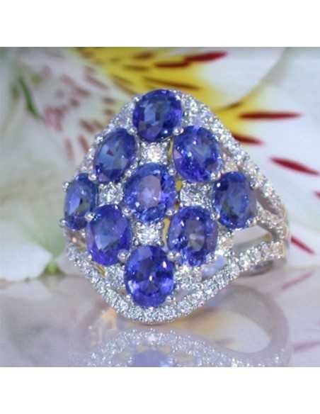 Inel Argintat Opulenti Albastru Inele 68,00lei