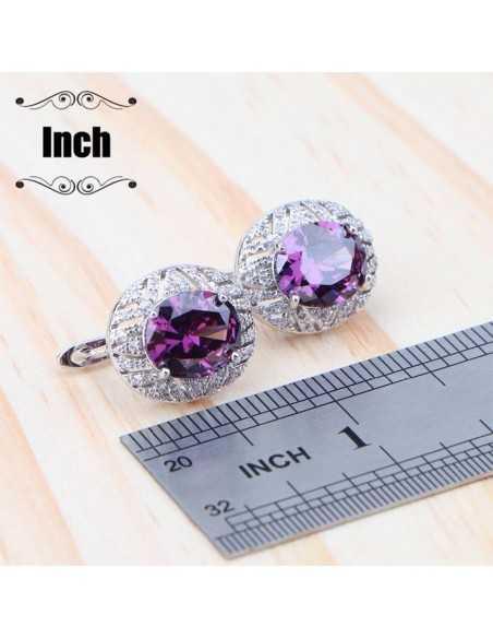 Set Bijuterii argintat Imperial Liliac Violet Set Bijuterii 190,40lei