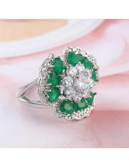 Inel Argintat Glamour Verde Inele 63,00lei