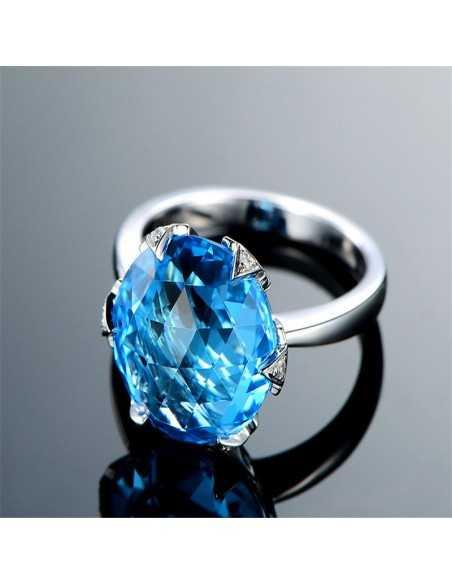 Inel Argintat Regis Albastru Inele 69,02lei