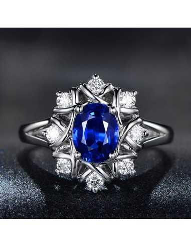Inel Argintat Snowflake Albastru Inele 65,45lei