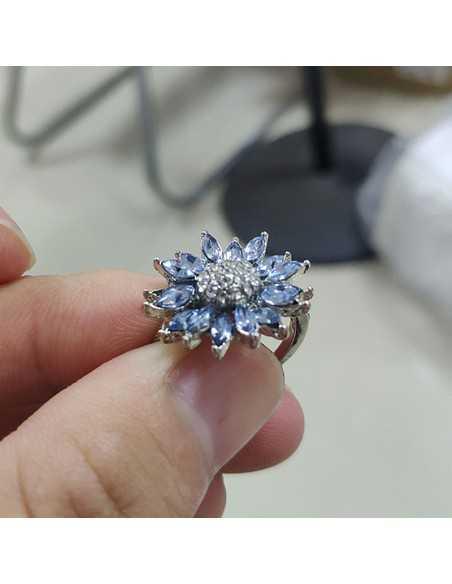 Inel Argintat Exquisite Albastru Inele 65,45lei