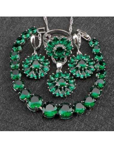 Set Bijuterii argintat Artemis Verde Set Bijuterii 190,40lei