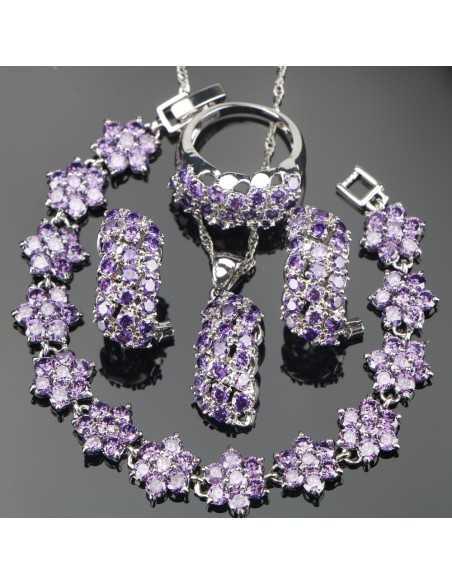 Set Bijuterii argintat Terra Violet Set Bijuterii 195,00lei