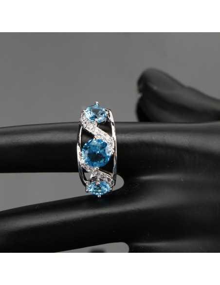 Set Bijuterii argintat Isis blue Ocean Set Bijuterii 194,00lei