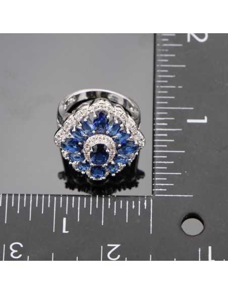 Set Bijuterii argintat Ashvins Albastru Set Bijuterii 192,00lei