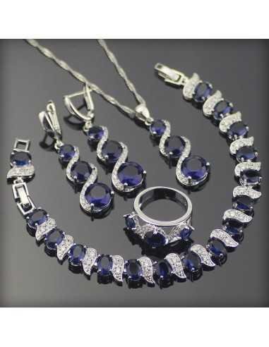 Set Bijuterii argintat Isis Albastru Set Bijuterii 193,00lei