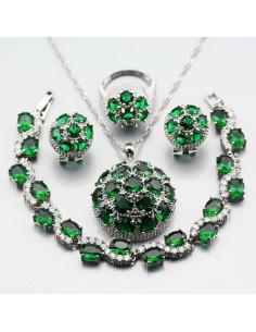 Set Bijuterii argintat Freyja Verde Set Bijuterii 195,00lei