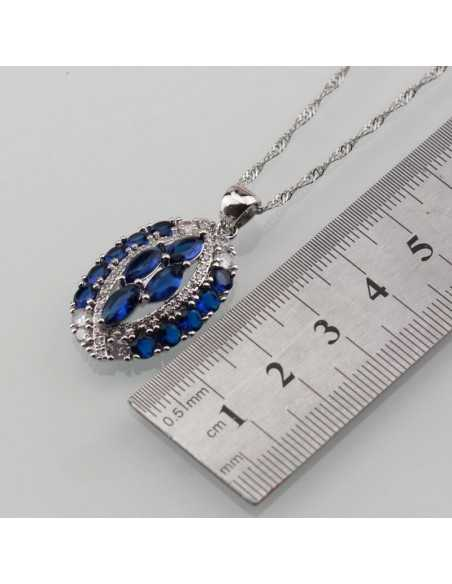 Set Bijuterii argintat Moon Albastru Set Bijuterii 191,00lei