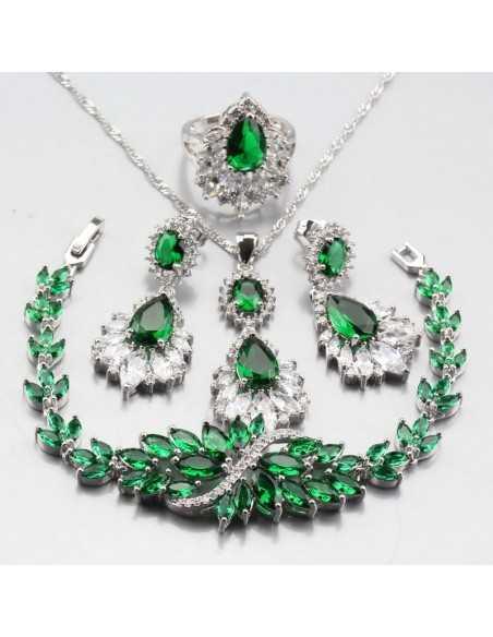 Set Bijuterii argintat Syn Verde Set Bijuterii 198,00lei