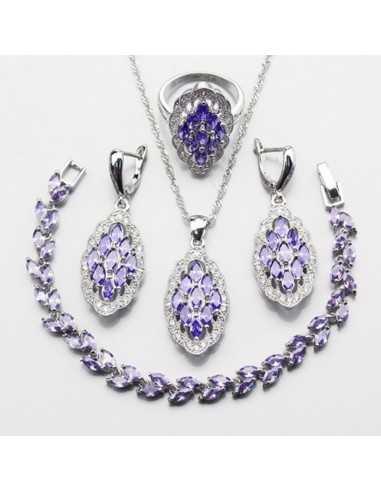 Set Bijuterii argintat Vanir Violet Set Bijuterii 193,00lei