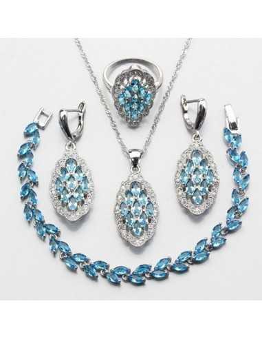 Set Bijuterii argintat Vanir Albastru Ocean Set Bijuterii 193,00lei