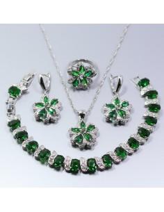 Set Bijuterii argintat Lyr Verde Set Bijuterii 196,00lei