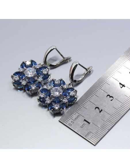 Set Bijuterii argintat Burgundy Albastru Set Bijuterii 197,00lei