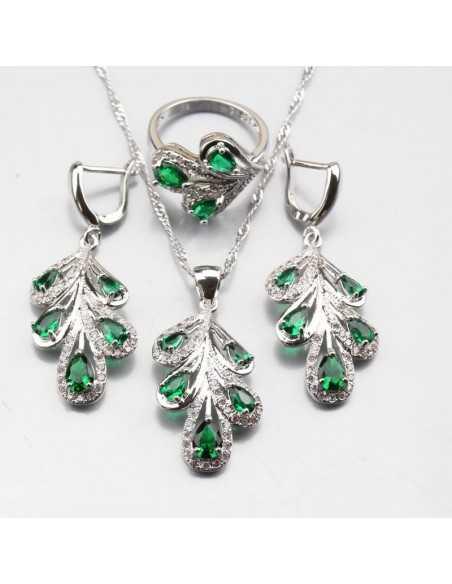 Set Bijuterii argintat Nature Verde Set Bijuterii 196,00lei