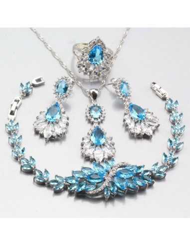 Set Bijuterii argintat Syn Albastru Ocean Set Bijuterii 198,00lei