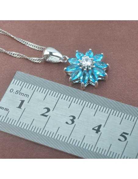 Set Bijuterii argintat Uranus Albastru Ocean Set Bijuterii 190,40lei