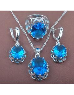 Set Bijuterii argintat The Ocean Albastru Set Bijuterii 140,23lei