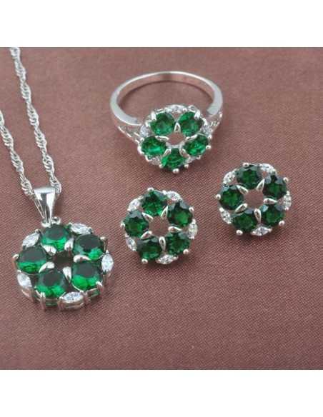 Set Bijuterii argintat Venus Verde Set Bijuterii 190,40lei