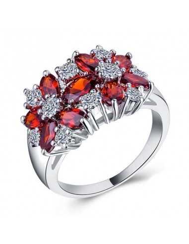 Inel Argintat Brilliant Rosu Inele 67,00lei