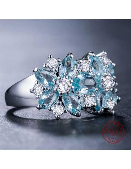 Inel Argintat Brilliant Albastru Ocean Inele 67,00lei