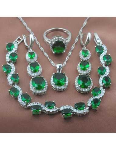 Set Bijuterii argintat Piton Verde Set Bijuterii 190,40lei