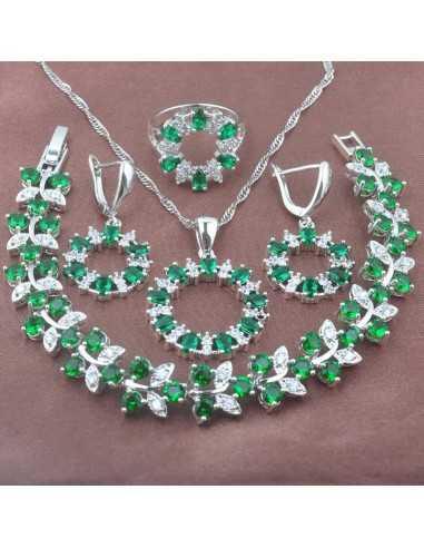 Set Bijuterii argintat Uranus Verde Set Bijuterii 190,40lei