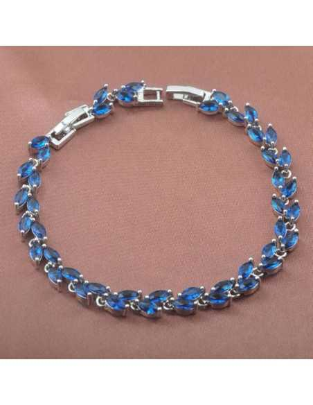 Set Bijuterii argintat Paris Albastru Set Bijuterii 190,40lei