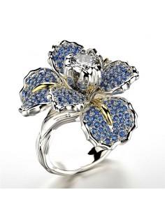 Inel Argintat Flower Gem Inele 94,00lei