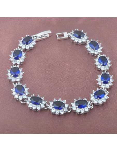 Set Bijuterii argintat Monaco Albastru Set Bijuterii 190,40lei
