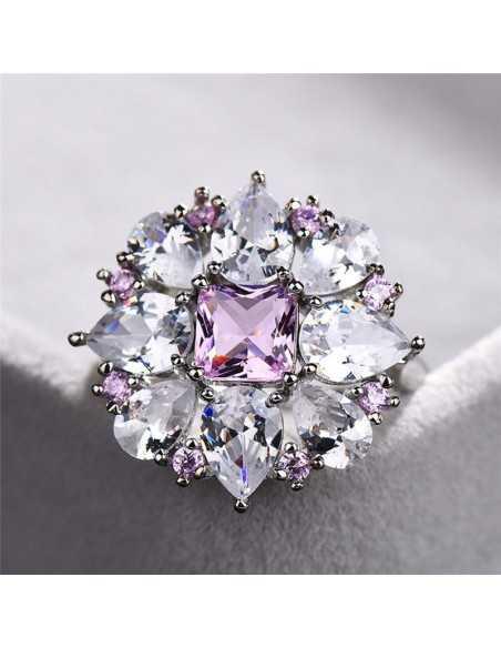Inel Argintat Pink Drop Inele 87,00lei