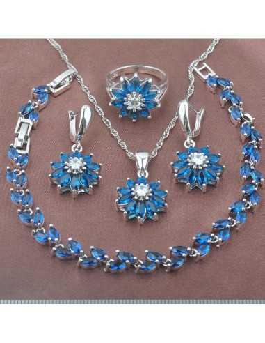 Set Bijuterii argintat Uranus Albastru Set Bijuterii 190,40lei